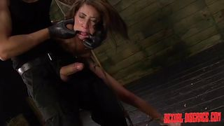 Tied Up Slave Takes The Master's Cock In Her Vagina