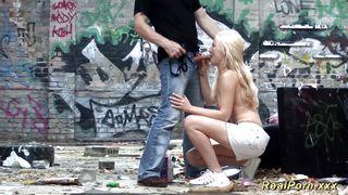 Real Porn Xxx-German Deepthroat In The Ghetto PornZek.Com