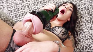 Aspen Sticks Her Lady Cock In A Sex Toy
