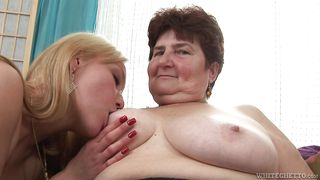 Fat Saggy Granny Playing With A Blonde Cutie  My Grandmas A Lesbian #02