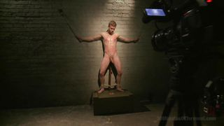 This Twink Slave's Ball Sack Must Really Hurt