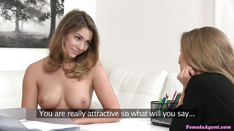 Lesbian sex at interview