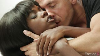 Sensual Ebony Gets Filled By Meaty White Cock