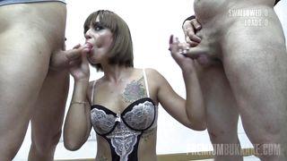 Silvana Swallows 65 Huge Mouthful Cumshots