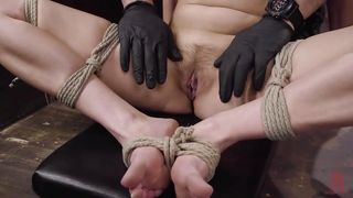 Naked, Bound And With A Ball Gag In Her Mouth