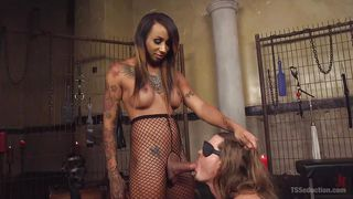 Black Tranny Sticks Her Crotch In His Face