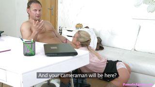 Fake Hub-Sexy Female Agent Caitlin Interviews Muscled Hunk PornZek.Com