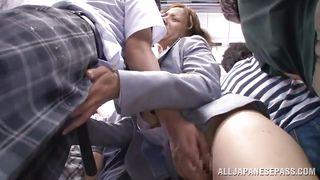 Japanese Gangbang In The Train