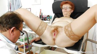 Old Slut Pussy Examined By Her Doc