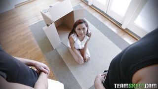 Petite Teen Elle Gets Fucked By Two Big Guys