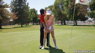 Sexy Karla Sucks Her Golf Instructor's Dick