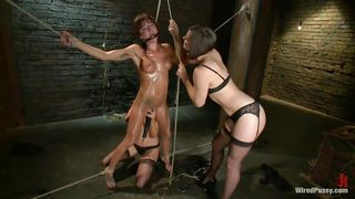 Bobbi Is Restrained And Shocked By Two Dominatrixes