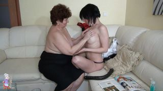 Old Nanny-Caught Masturbating By Her Old Nanny PornZek.Com
