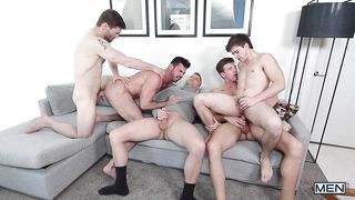 Rough Butt Fucking In The Homosexual Orgy