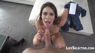 Life Selector-Ani Black Fox-Brunette Gets Her Mouth Loaded PornZek.Com
