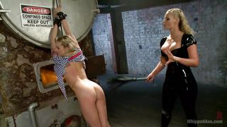 Delicious Ass Blonde Punished By Her Gf