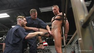Gay Slave Gets A Vibrator On His Cock