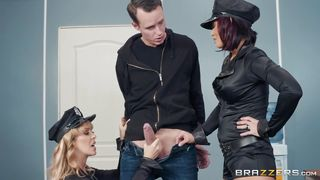 Ffm Threesome With Horny And Busty Police Officers