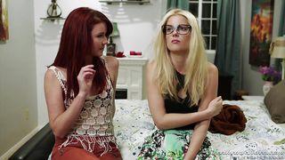 Sweetheart Video-Lesbian Milfs Getting Horny On Sofa @ Lesbian Steps! Sters 5 PornZek.Com