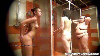 Totally Naked Women Caught On Hidden Cam Taking Shower