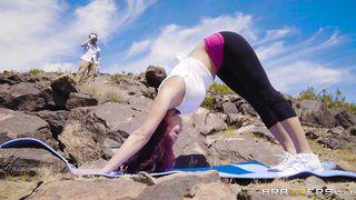 Redhead Yoga Guru Sucks And Rides A Hard Cock Outdoors