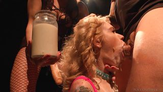 Jar Full Of Thick White Penis Milk  Rocco Siffredi Hard Academy
