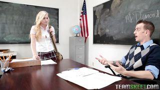 Sexy Schoolgirl Jessie Seduces Teacher