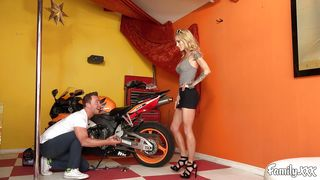 Stunning Blonde Bad Girl Sucks A Huge Dick