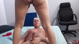 Cute Blonde Chick Rides A Cock