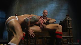 Tattoed Hunk Loves Being Dominated