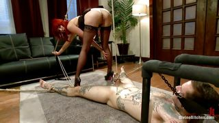Divine Redhead Plays With Her Man