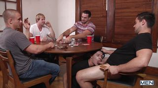 A Bottom Suck Cocks At A Poker Game