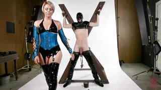 Sex Slave In Latex Mask Gets Tortured And Fucked By Helena Locke