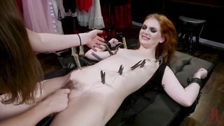 Redhead Slave Must Worship Her Hot Shemale Mistress