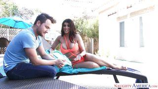 Busty Romi Seduces Her Neighbor