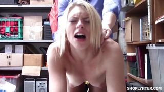 Broke Blonde Teen Thief Fucked For Stealing