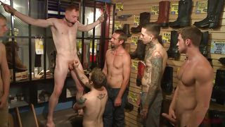 Bound And Banged In A Shoe Store