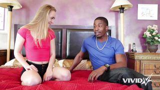 Young Blond Girl Fucks A Big Black Cock