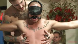 Gay Sex Slave Receives More Then He Can Handle
