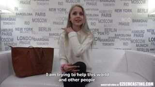 Blonde Czech Beauty Sucks Cock In Fake Casting Call