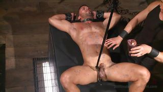 Muscled Gay Loves Some Pain Before A Cock