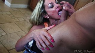 Sydney Sucks Cock In The Kitchen  Horny Grannies Love To Fuck #08