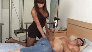 Sexy Tranny Surprises A Huge Dick  Miss Transsexual Universe #04